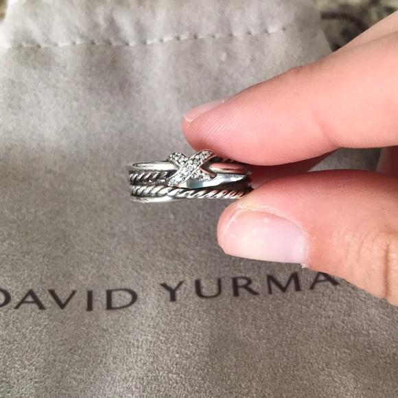 David Yurman Jewelry - David Yurman crossover ring with diamonds